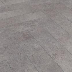 Sol stratifié parquet chêne en chevrons Ciment Pesaro Herringbone Kronotex - certifié FSC AC4